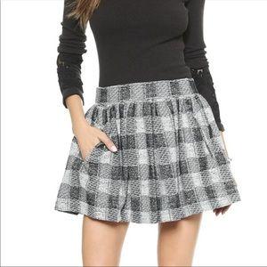 Free People Holly Go Lightly plaid mini skirt